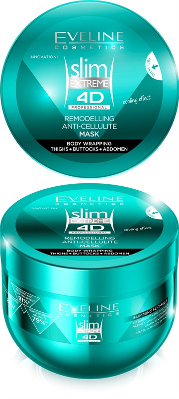 Eveline Slim Extreme 4D Professional Remodelling Anti-Cellulite Mask Body Wrapping 300ml