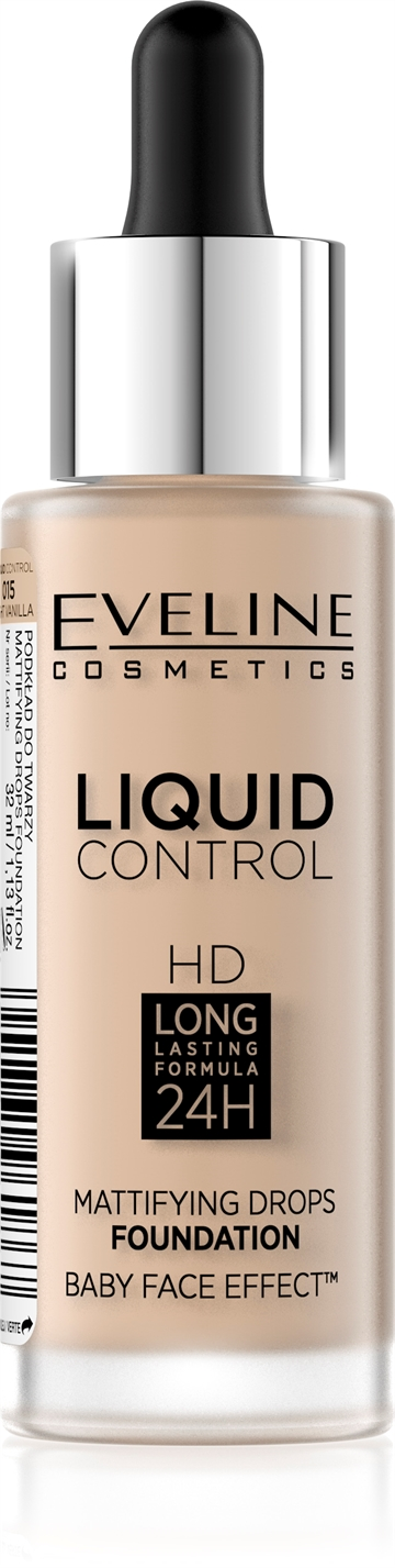 Eveline Liquid Control Foundation With Dropper 015 Vanilla Beige 32ml