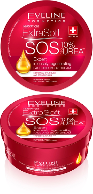 Eveline Soft Sos 10% Urea Face&Body Cream 175ml
