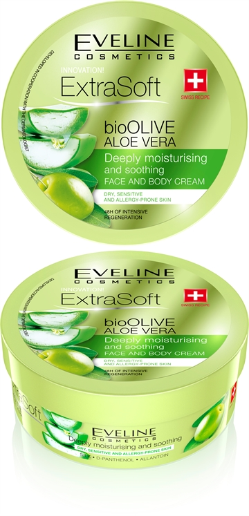 Eveline Soft Bioolive Aloe Vera Face&Body Cream 175ml