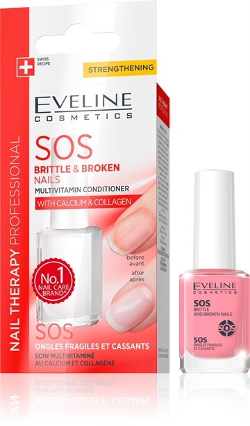Eveline Nail Therapy Professional Sos Brittle And Broken Nails 12ml