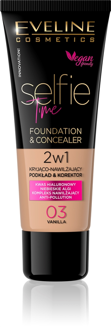 Eveline Selfie Time Foundation & Concealer 03 Vanilla 30ml
