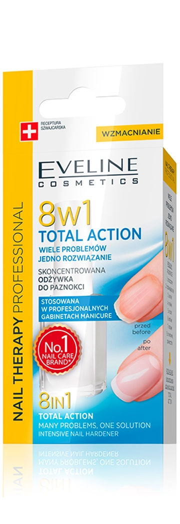 Eveline With Formaldehyde Nail Therapy  Total Action 8 In 1 12ml