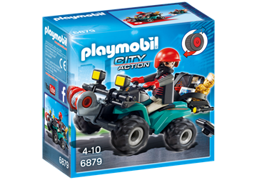 Playmobil Robber'  Quad With Loot 6879