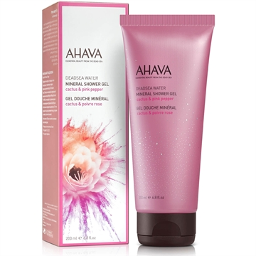 Ahava Deadsea Water Mineral Shower Gel Spring Blossom 200ml Cactus & Pink Pepper