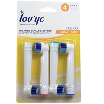 Lov'yc electric toothbrush refill 4' Flexo minibox 12'
