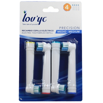 Lov'yc electric toothbrush refill 4' Precision minibox 12'