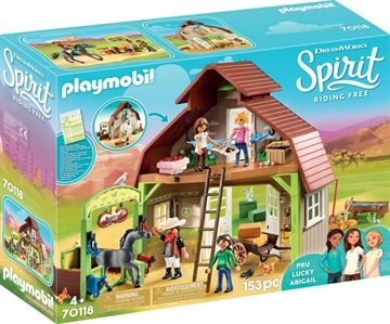 Playmobil Barn with Lucky 70118