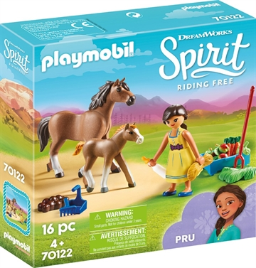 Playmobil Pru with Horse and Foal 70122