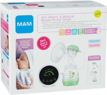 MAM 2in1 Electric & Manual Breast Pump Single