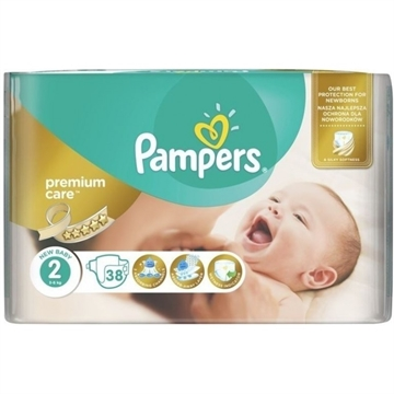 Pampers Premium Care Nappies Size 2 38'