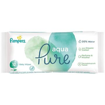 Pampers Wet Wipes Aqua 12Er