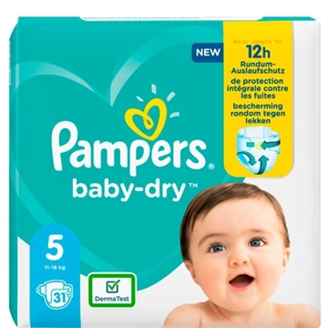 Pampers Baby Dry Size 5 Junior 11-16kg 31'