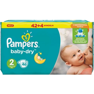 Pampers Baby Dry Size 2 Mini 3-6kg 37'