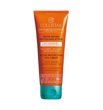 Collistar Active Protection Sun Cream Face Body50+ 100ml SPF 50+