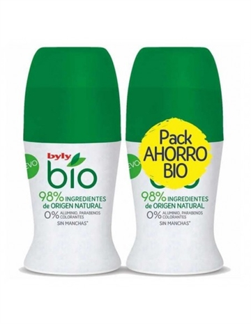 Byly Bio Natural 0%  Deo Roll-On Lote 2 X 50ml