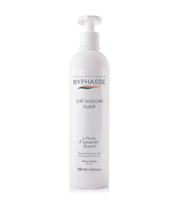 Byphasse Body Milk 500 ml Almond Oil Dry Skin