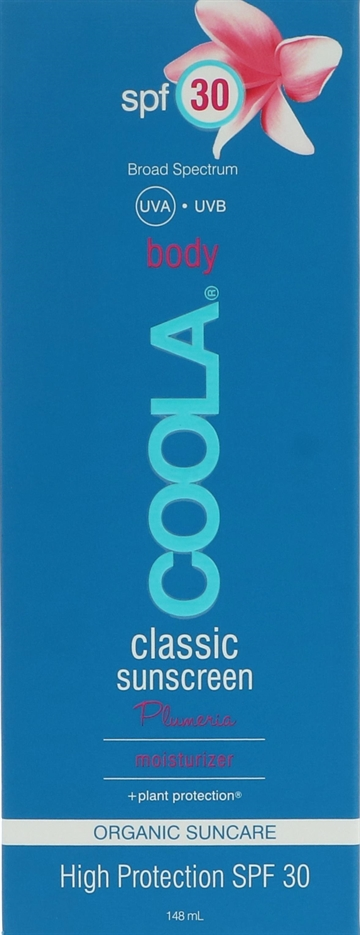 Coola Classic Sunscreen Body Moisturizer SPF 30 148ml Plumeria