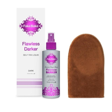 Fake Bake Flawless Darker Self Tan Liquid 170ml with Mitt