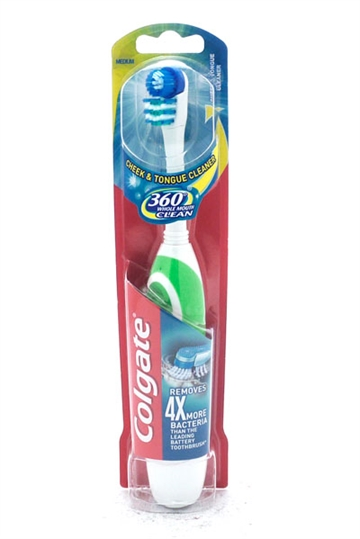 Colgate Toothbrush 360 Clean Batteri Medium