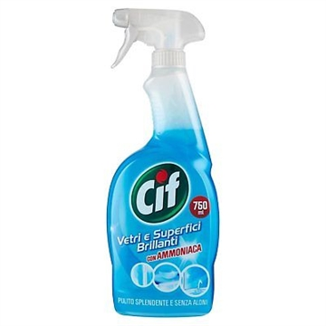 CIF Clean And Brightness Spray 750 ml Crystals And Shiny Surfaces Ammonia