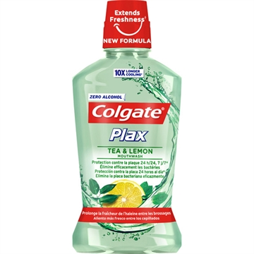 Colgate Plax Mouthwash 500 ml Lemon & Tea