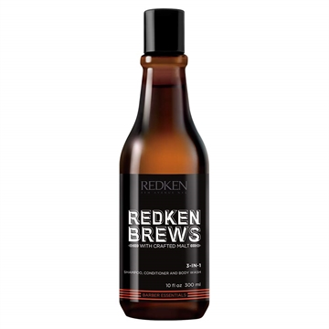 Redken Brews 3 In 1 Shampoo Conditioner Body Wash 300ml
