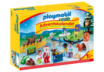 "Playmobil 1.2.3 Adventskalender ""Jul i dyrenes skov""  9391"