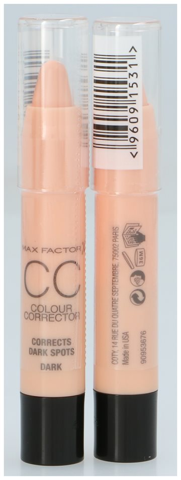 Max Factor Cc Colour Corrector Peach - Corrects Dark Spots - Dark Skin 3,3 gr