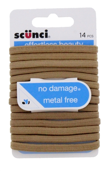 Scunci No Damage Flat Elastie 14Piece