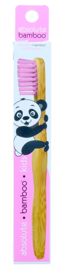 Absolute Bamboo Toothbrush Kids Pink