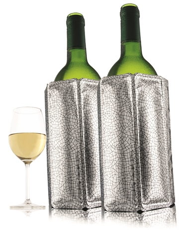 Vacuvin 38823606  Active Winecooler silver (Set of 2)