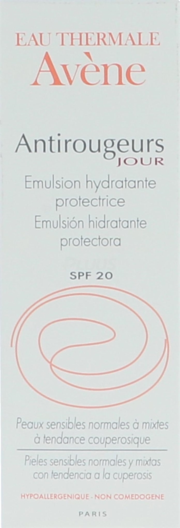 Avene Antirougeurs Moisturizing Prot. Emul. SPF20 40ml