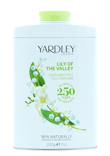 Yardley 200G Lily Of The Valley Fragranced Talc