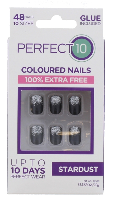 Perfect 10 Stardust Nails 48 Pack