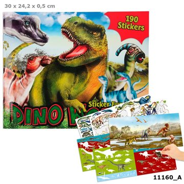 Create Your - Dino Stickerworld Klistermærkebog