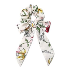 Everneed Trille - bow scrunchie white
