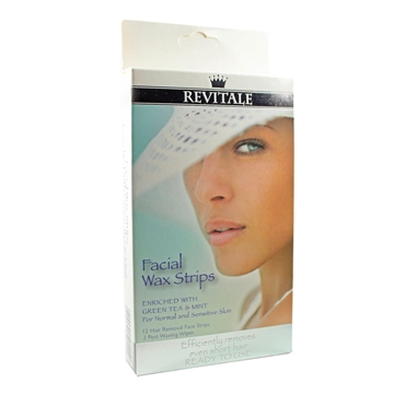 Revitale Facial Wax Strips 12'S For Normal & Sensitive Skin