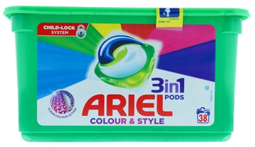 Ariel 3in1 Pods Colour & Style 38'