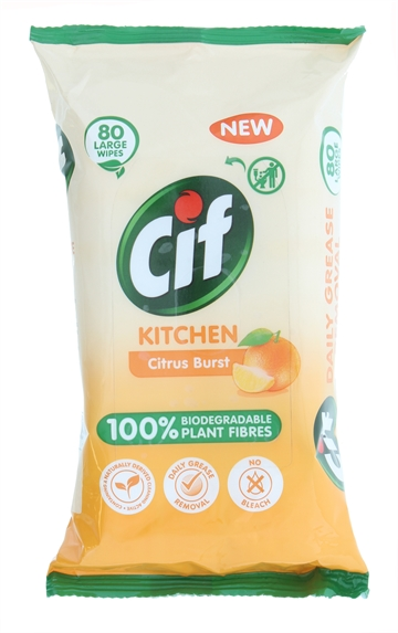 Cif Biodegradable Wipes Kitchen 80'