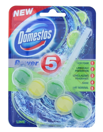 Domestos 55G Power Toilet Block Lime