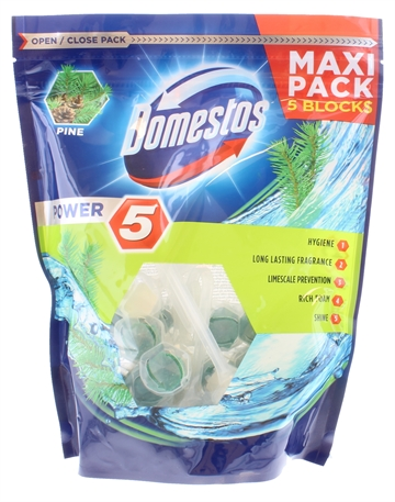 Domestos 5X55G Power Maxi Pack Pine