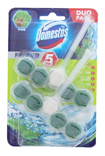 Domestos 2X55G Power Toilet Block Pine