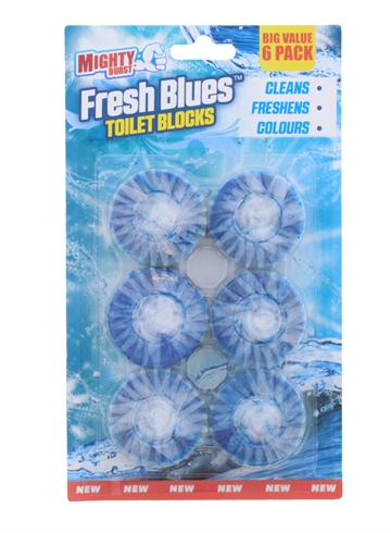 Mighty Burst 6X50G Toiletbloks Blues