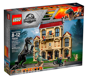 LEGO 75930 Jurassic World Indoraptor-kaos på Lockwood Estate