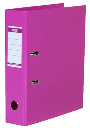 Brevordner A4 Elba Pink 80Mm Strong-Line Pvc-Fri