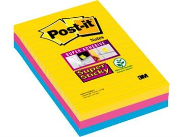 Post-It Super Sticky Lin. 101X152 Mm Rio Color Ass.