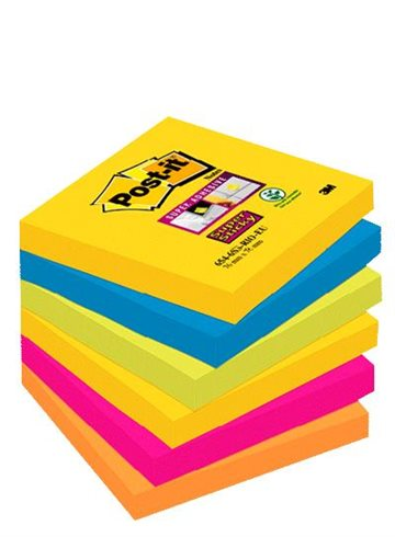 Post-It Blokke 3M 76X76 Mm Super Sticky Ass. Rio Color