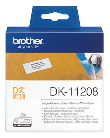 Etiketter Brother Adresselabel 38X90 400 Pr. Rl.