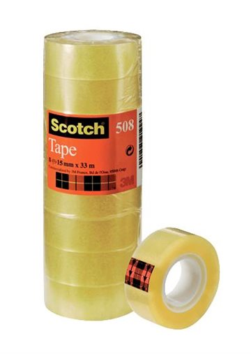 Tape Scotch 15Mm X 33M Transperant, Tårn Med 10 Rl